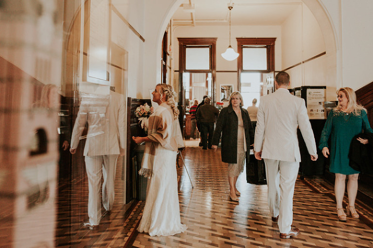 Stylish courthouse wedding