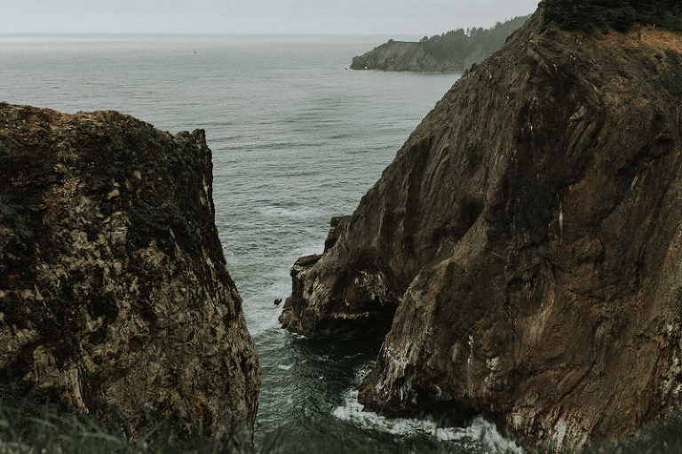 Stunning views of the Pacific Ocean as seen from Oswald State Park, Oregon, near Devil's Cauldron.